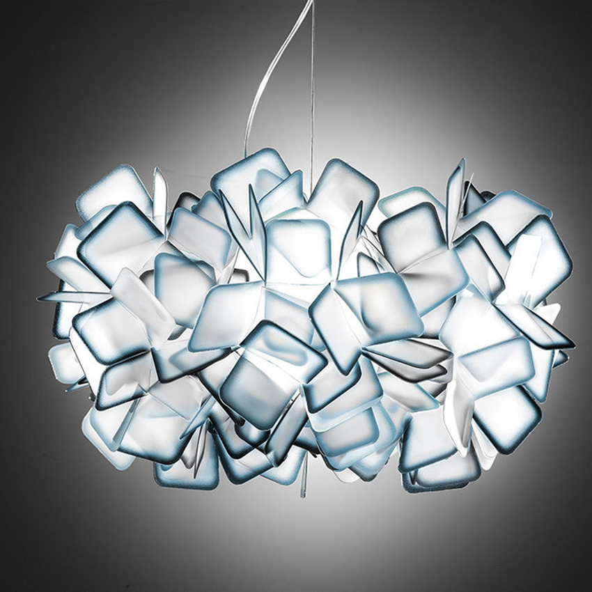 New Clizia Acrylic led Suspension Lamp Colorful Gradient Led hanging light living Dining Room Bedroom pendant lights fixture