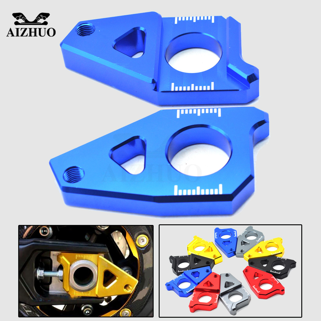 Motorcycle Chain Tensioner Rear Axle Spindle Chain Adjuster For YAMAHA YZF R1 2005-2015 FZ8 2012-2015 tmax 530 2012 -2014