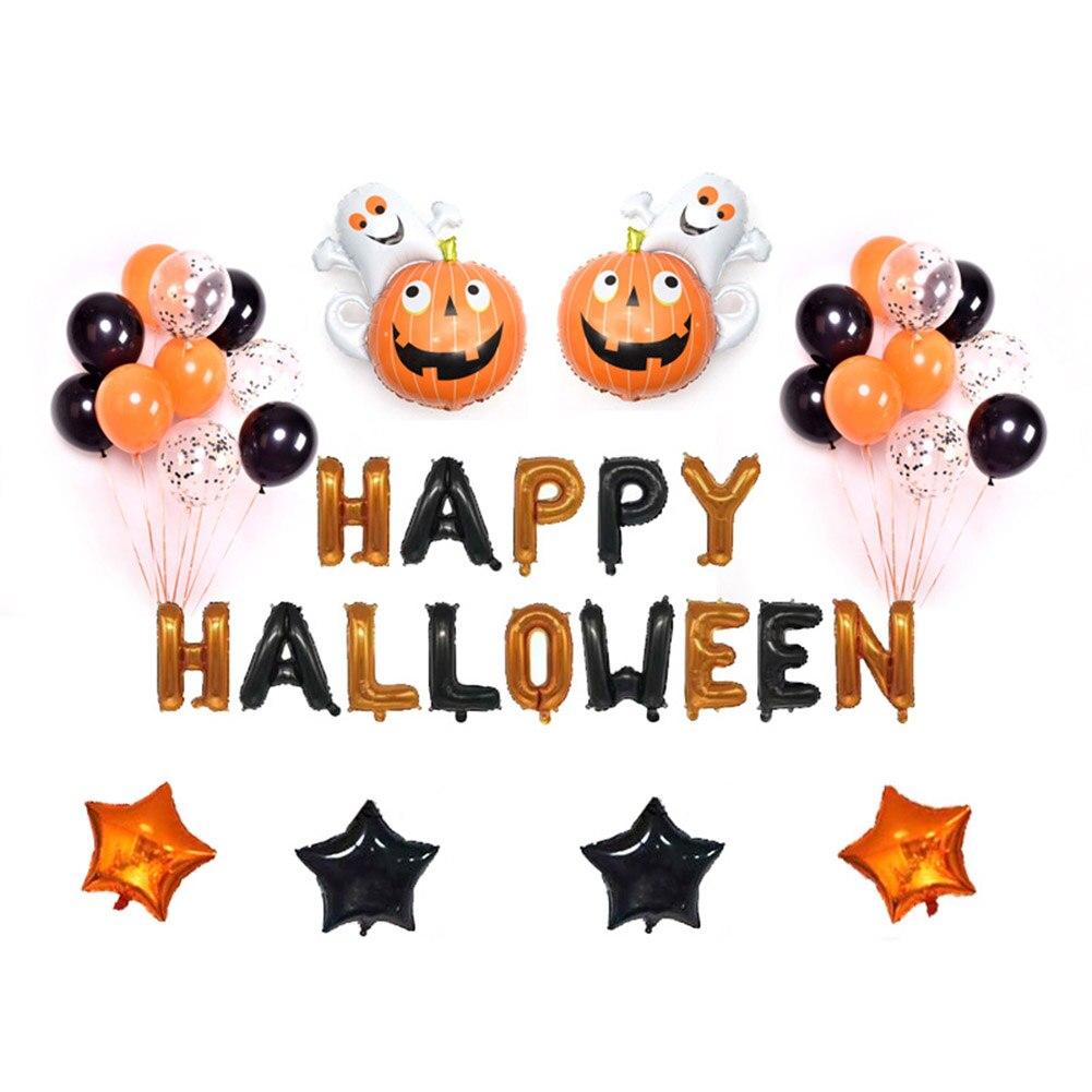 Лидер продаж Хэллоуин шары набор Happy Halloween висит украшения жуткий Star вечерние декоры