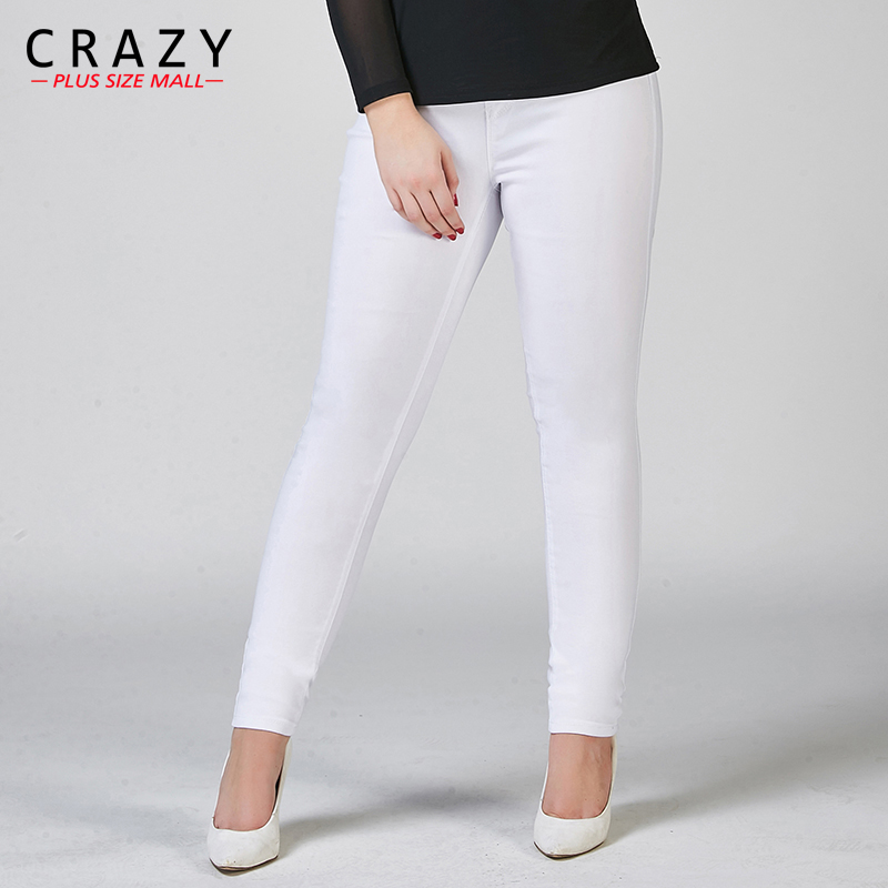 New Plus Size Fat 40-100kg Women Summer Skinny Denim Jeans For Female Black White Skinny Jeans Stretch Pencil Pants C919