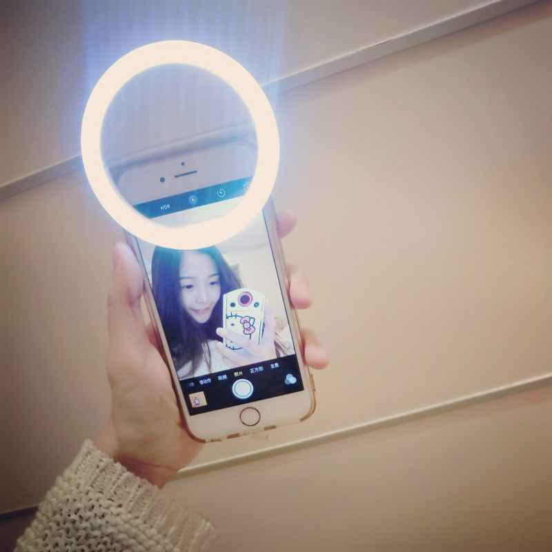 Universal Luxury Smart Phone LED Flash Light Up Selfie Luminous Phone Ring For iPhone 6 7 8 X Plus Samsung S6 S7 S8 S9 Redmi