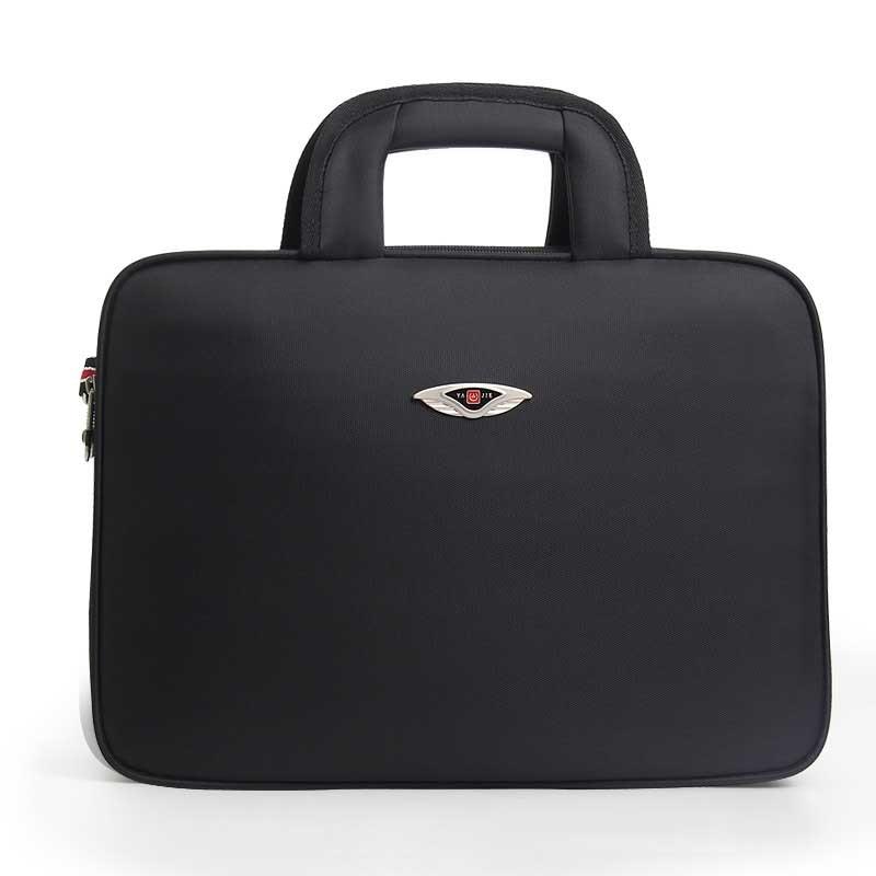 все цены на Men's Business Briefcase handbag Luxury Brand Oxford cloth14Inch Laptop Bag Men's Large Capacity Fashion Men Shoulder travel Bag онлайн