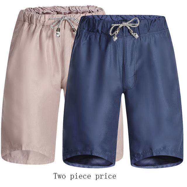Pantalones cortos de playa suelta de algodón patrón de lino del verano más tamaño ocasional plus selastic Transpirable cintura tether Equipamiento Del Hogar pant