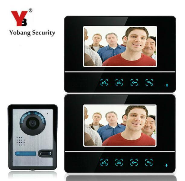 Yobang безопасности 7 Видеодомофоны Домофон Камера Мониторы для Вилла домашний телефон двери Домофон охранных ЖК дисплей Экран
