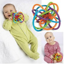 Baby toys fun little loud bell ball baby ball toy rattles baby develop intelligence baby grasping toys plastic rattle handbell
