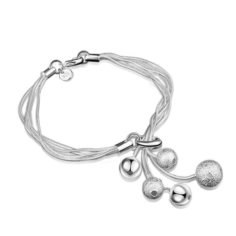 bfad6376f075 ②5 perlas de esmalte y helado encanto plata plateada pulseras y ...