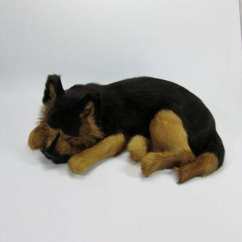 Simulation black dog polyethylene&furs dog model funny gift about 36cmx25cmx14cm