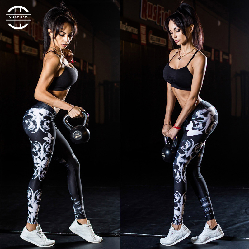 Yuerlian Girls Gym Long Yoga Pants Women Sports Trousers Skinny Sexy Fitness Tight Leggings Workout Compression Running Pants