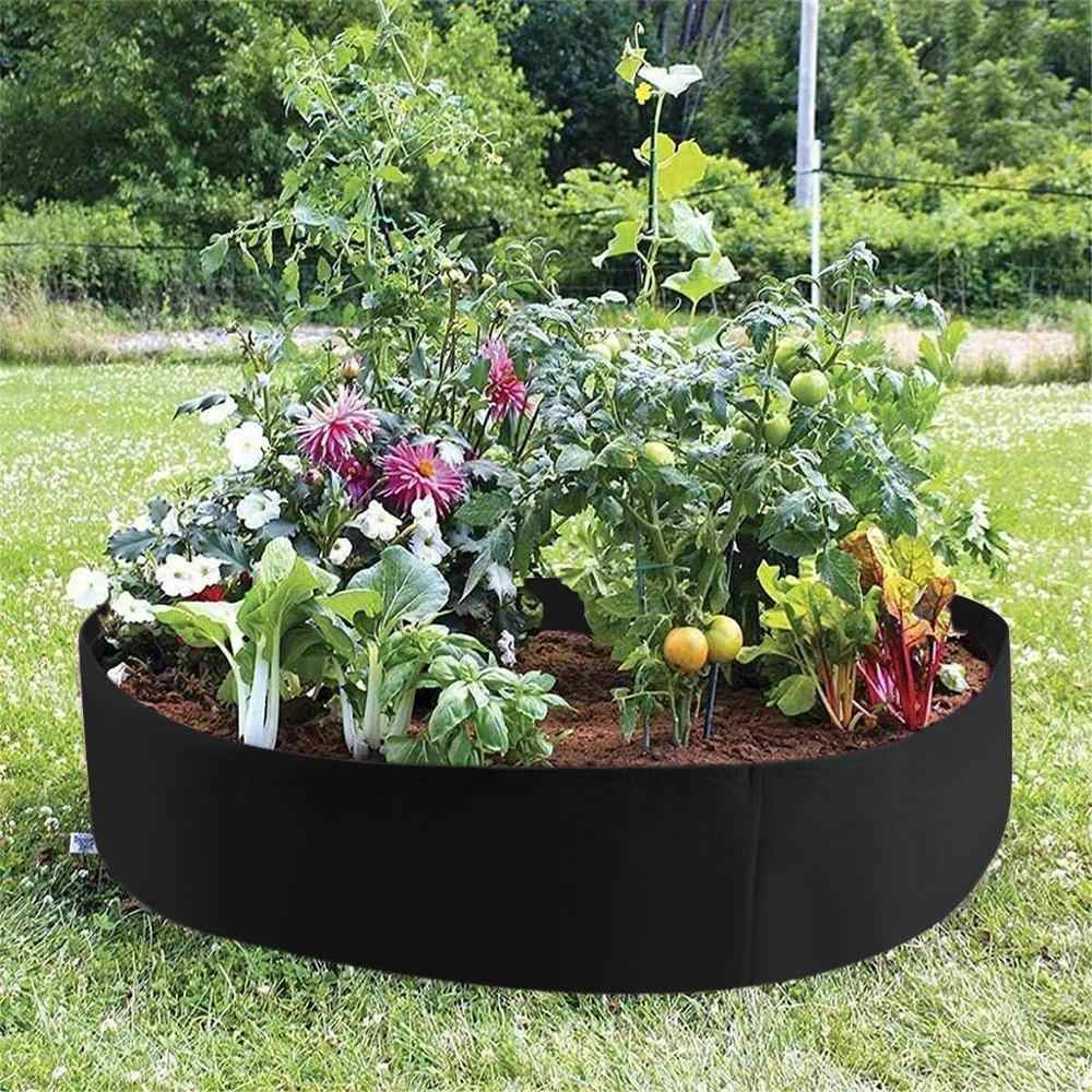 Round Garden Grow Bag garden jardin jardim jardinage ogrod Raised Plant Bed Garden Flower Planter Elevated Vegetable Box  @16