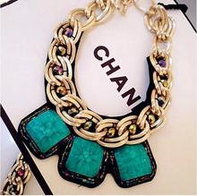 New stylish atmosphere blue, red collar necklace free shipping