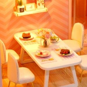 Кукольный домик Dream Angel, мебель для поделок, миниатюрный кукольный домик, милый семейный дом, дом Casinha De Boneca Lol, детские игрушки, подарки