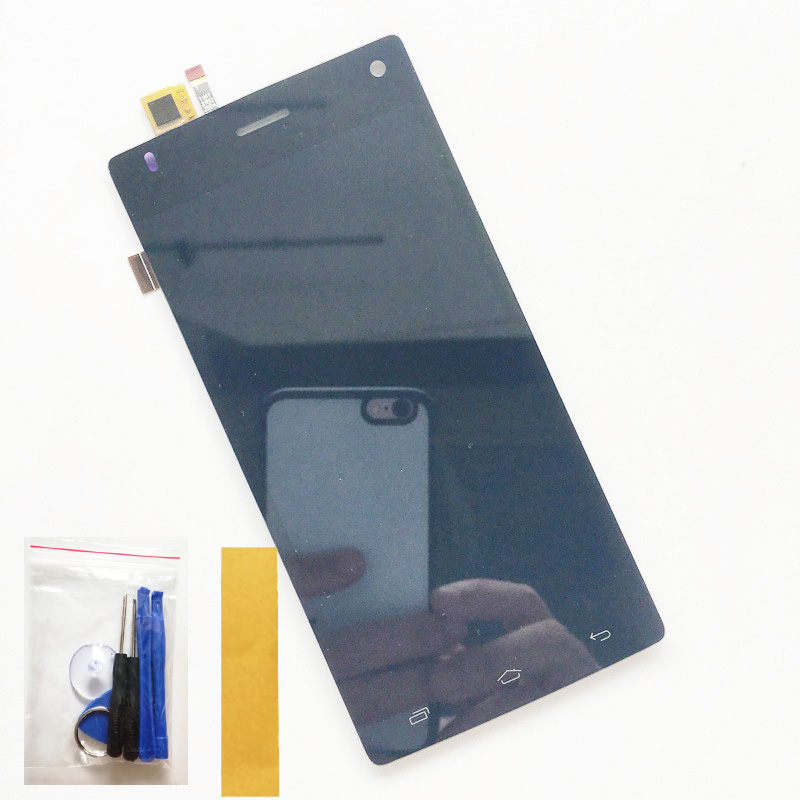 Black For FLY FS452 FS 452 LCD Display Screen Digitizer Complete LCD Screen Assembly Replacement + Tool