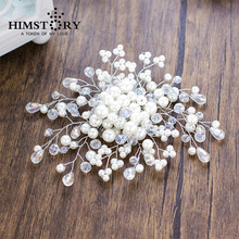 Gorgeous Hair Comb Handmade Crystal Hairpins Women Pearl Jewelry Hairwear White Bridal Headpiece wedding accessories