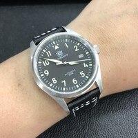 Women men pilot watch stainless dive watch 200m NH35 automatic wristwatch sapphire glass 39mm