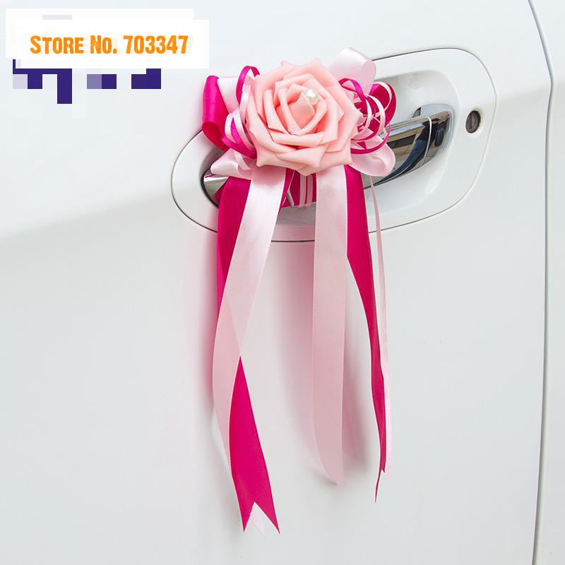 2015 multicolor simulation rose satin bow korean wedding car 2015 multicolor simulation rose satin bow korean wedding car decoration artificial flowers mirror door handle embellishment in artificial dried flowers junglespirit Image collections