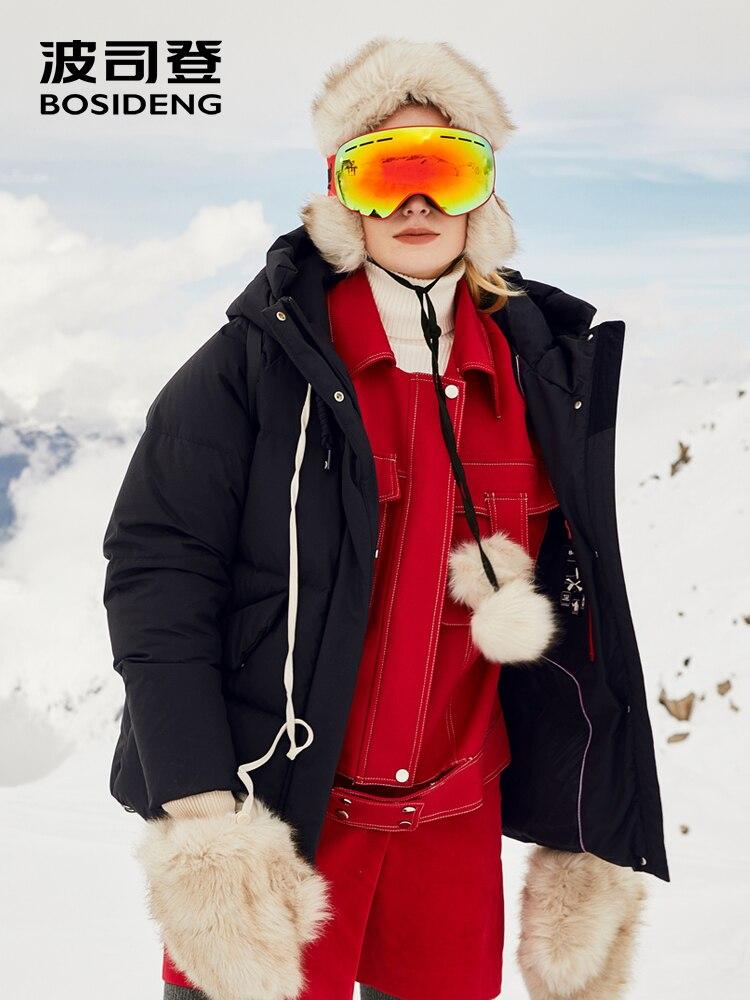 BOSIDENG 2018 новая зимняя верхняя одежда с капюшоном женская утепленная куртка регулярные верхняя одежда спортивные водонепроницаемый ветроза...
