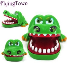 Купить с кэшбэком Funny toys crocodile In the toy Trick toys cute animals baby toys for children brinquedos gift for kids outdoor fun play games