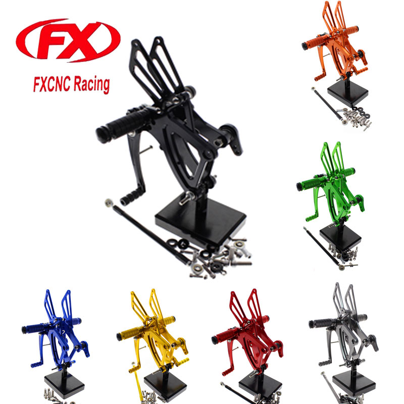FX CNC Adjustable Motorcycle Foot Rests Rear Set Footpegs Fit for HONDA CBR500R CBR400R CB500F CB400F 2013 2014 2015 Rearset morais r the hundred foot journey