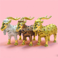 European Chinese style Metal enamel painted crafts sheep goat antelope, home decoration desktop ornaments (A489)