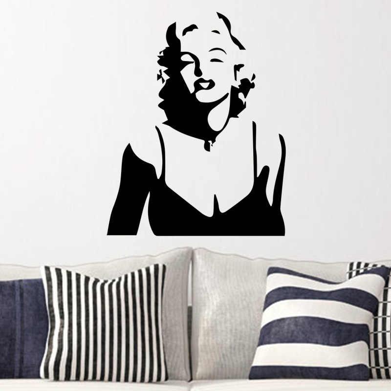 Marilyn Monroe Wall Sticker for Girls Bedroom Decoration Self Adhesive  Waterproof Art Decor Bedroom Accessories Vinyl Murals