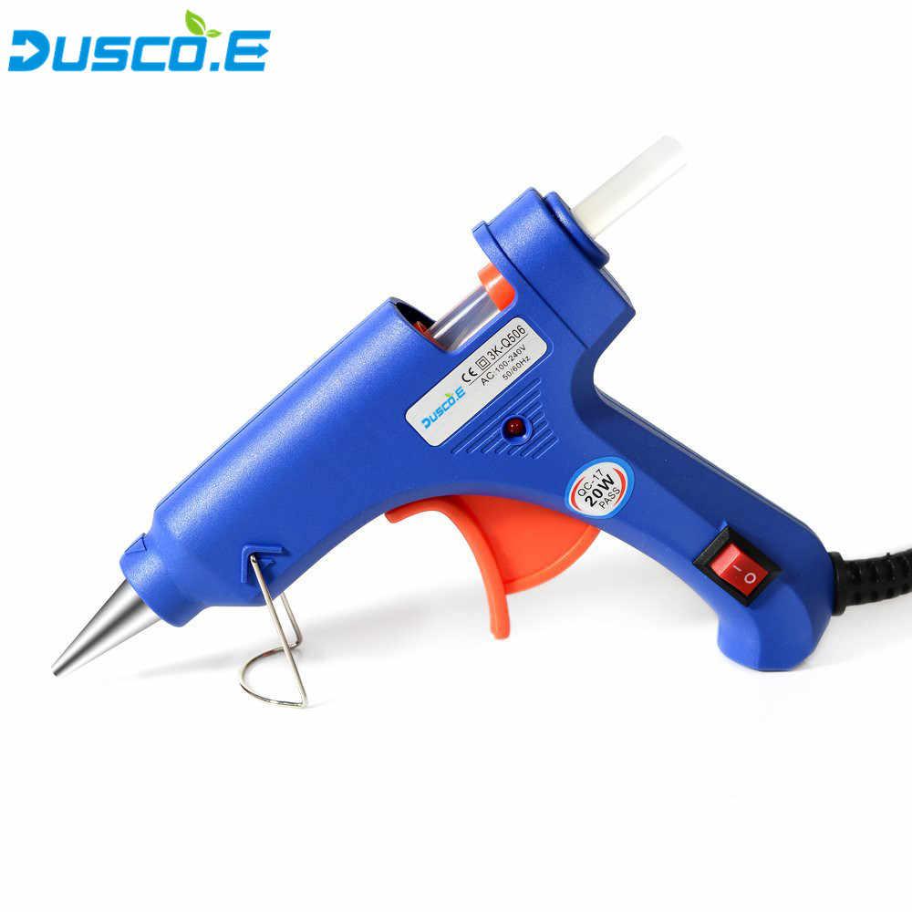 20 W EU/US Hot Melt กาวปืน 10 pcs 7 มม. * 180 มม. กาว Stick อุตสาหกรรม DIY Mini Thermo Heat heat อุณหภูมิเครื่องมือ