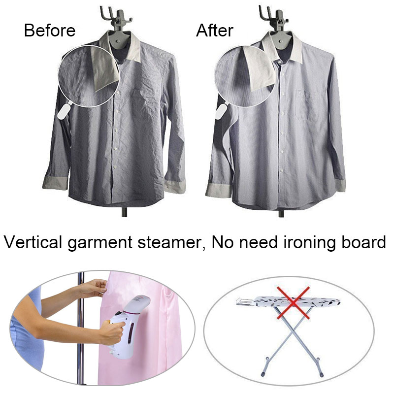 Image 3 - 110V 220V Vertical Garment Clothes Steamer with Steam Brush Laundry Appliances Ironing Irons Handheld Steamers Iron Pink-in Garment Steamers from Home Appliances