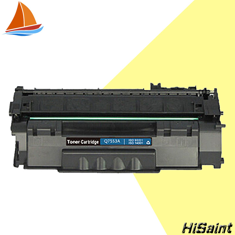 ФОТО Compatible HP Q7553A Toner Cartridge High Yield Black Toner Cartridge Model 3000 Pages P2014/P2015/P2015D/P2015N/M2727 Printer