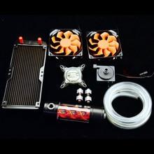 Dla intel 115×1151 1155 1156 komputer cpu led wody blok chłodzenia chłodzony wirusa chłodnicy wody zbiornika pompy ciepła zlew zestawy