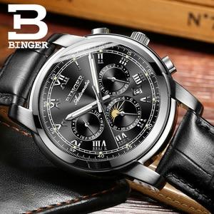 Image 5 - Zwitserland Automatische Mechanische Horloge Mannen Binger Luxe Merk Heren Horloges Sapphire klok Waterdicht relogio masculino B1178 12