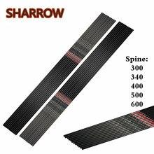 6/12Pcs 30 32 Archery Pure Carbon Arrows Shaft SP300-600 ID6.2mm Arrow Shafts DIY Tools Shooting Practice Accessories