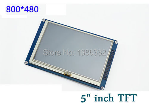 """Prix pour WQScosea Q8S-93 5 """"5.0 pouce 800*480 TFT LCD Affichage Tactile Panneau Écran Module SSD1963 Carte Contrôleur Pour ARDUINO 51/AVR/STM32"""