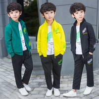 3 Pieces Autumn Big Boys Outfits Clothing Set Jackets T shirts Pants Kids Fall Tracksuit vetement garcon For 6 8 10 12 14 Years