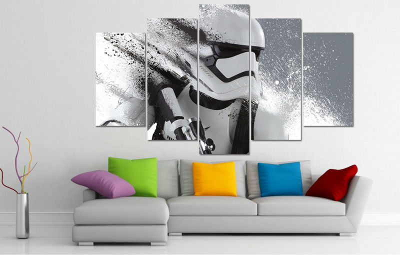 Storm Trooper Children Home Family Large Poster Canvas Pictures Star Wars