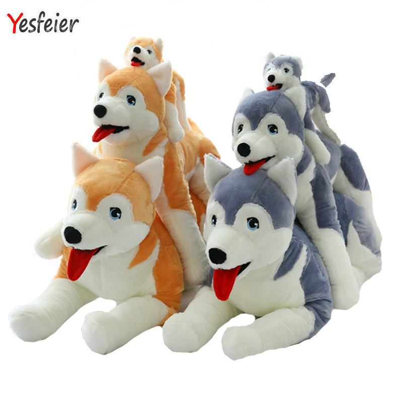 30-60cm Cartoon birthday gift for kids Cute Husky plush toys gray/brown artificial dog doll stuffed animals plush toy cartoon plush toy 7 articuno plush toy cute character stuffed animals kawaii toys doll for kids gift