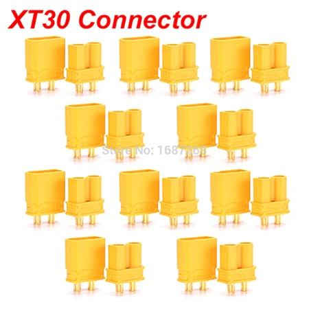"""10 пар XT30 XT30U XT60 XT60H XT90 EC2 EC3 EC5 T разъем батареи набор мужской женский Позолоченный разъем типа """"банан"""" для RC частей - Цвет: 10pairs Amass XT30"""