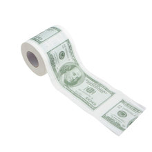 1 Roll 2 Ply NEW Novelty Funny 100 Dollar Money Printed WC Bath Funny Toilet Paper Tissue Bathroom Supplies Gift FOR Home(China)