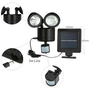 Image 5 - 42 LED Solar Power Light Double Head Human Body Motion Sensor Pathway Solar Lamp Outdoor Waterproof Energy Saving Spotlight