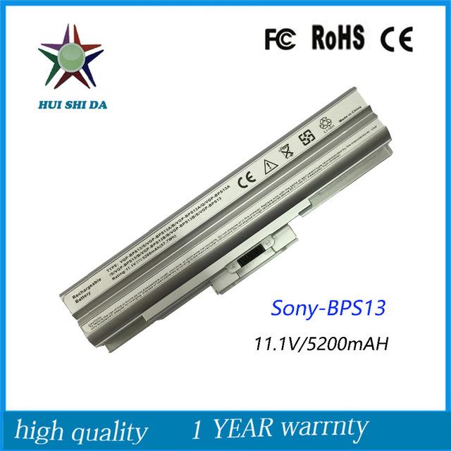 11.1 v prata nova qualidade da bateria do portátil para sony vgp-bps13/s bps13a/b vgp-bps13a/q tx57cn