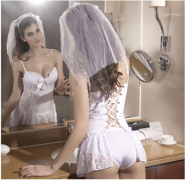 Porn Products Elegant Sexy Wedding Lingerie 2015 Bride Lingerie Set White Porn Clothes With Cotton Bra Sexy Girl Porn In Exotic Apparel From Novelty