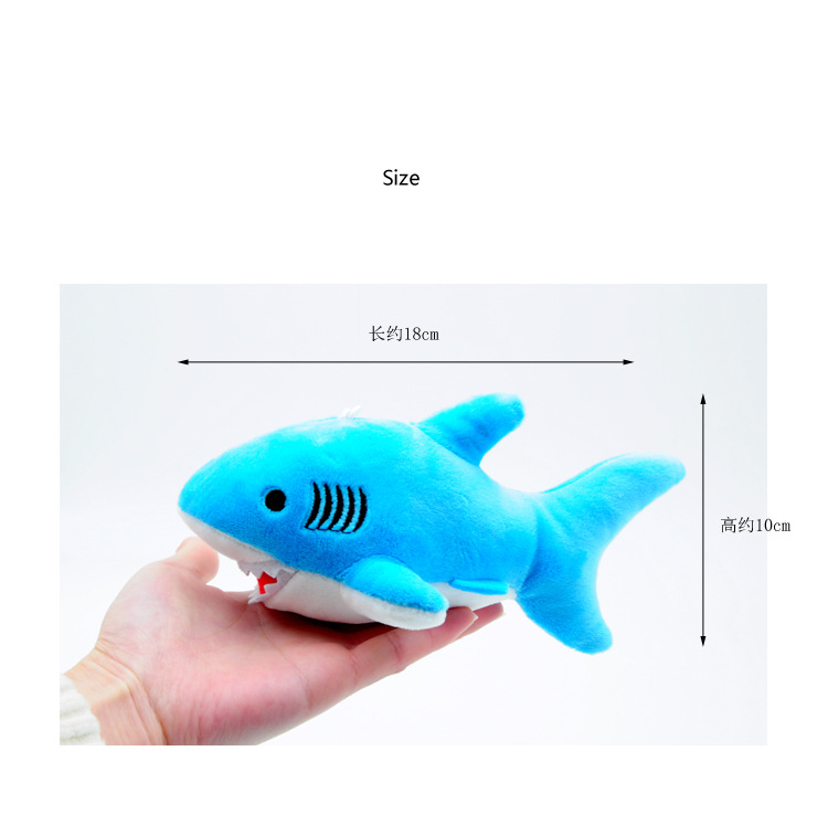 """Happy Shark"" Cute Plush Shark (Random Color blue / grey / pink) 3"