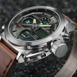 Image 4 - AMST צבאי שעונים צלילה 50 M ניילון & עור רצועת LED שעונים גברים למעלה מותג יוקרה קוורץ שעונים reloj hombre relogio Masculino