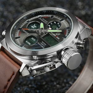 Image 4 - AMST Military Watches Dive 50M Nylon&Leather Strap LED Watches Men Top Brand Luxury Quartz Watch reloj hombre Relogio Masculino