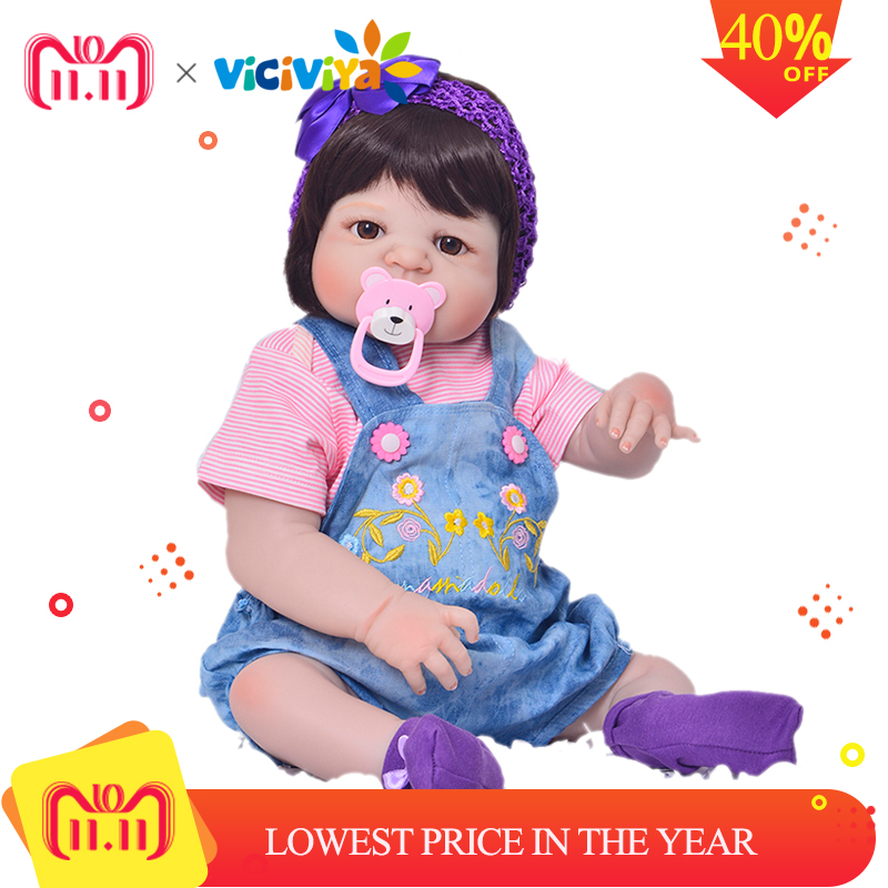 New Arrival Baby Girl Reborn Dolls Kids Toy Full Silicone Vinyl 23'' 57 cm Real Life Bebe Reborn Alive Doll VS NPK COLLECTION new arrival full silicone vinyl baby dolls reborn girl 57 cm realistic alive new born bonecas 23 babies doll toy for children