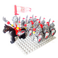 10pcs Enlighten Castle knights figure Lion knights Dragon Slive Hawk Rome knight with weapon Building Block