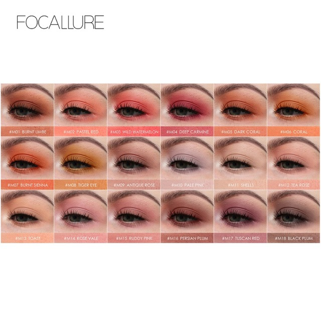 Focallure Single Eyeshadow Eyeshadow Matte Powder Pigment Metallic Shiny Holographic Eye Toppers Single Eye Shadow Makeup