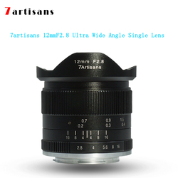 7 artisans 12mmf2.8 ultra wide angle single lens for E-mount, Canon EOS-M mount, FX mount for cameras Canon M1 M2 M3 M5 M6