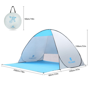 Image 2 - KEUMER автоматический пляжный тент с защитой от ультрафиолета, 2 человека, палатка для кемпинга, Мгновенный Всплывающий Открытый Анти УФ тент, тенты для улицы, солнцезащитный тент