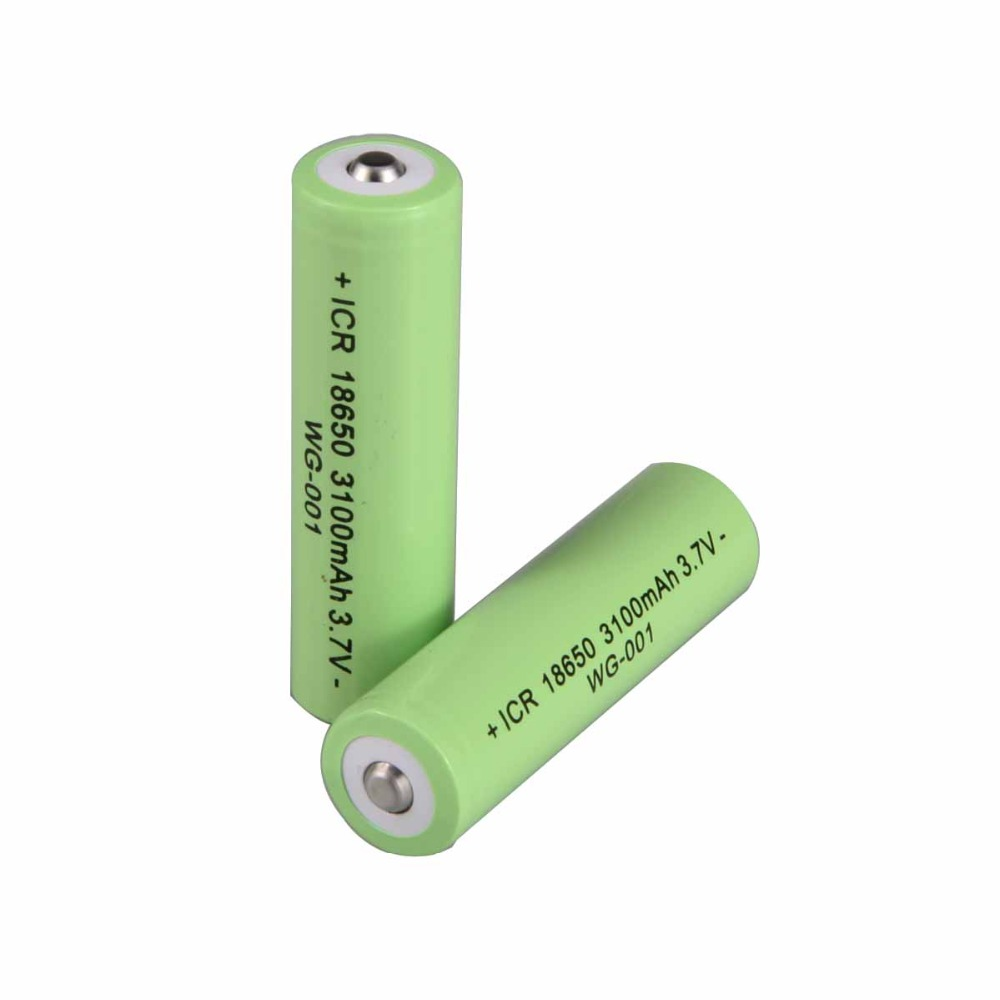 100%18650 WG-001 Original Battery 3100 MAh 3.7 V Lithium Battery For ICR18650b 3100 MAh 3.7 V Flashlight 18650 Battery