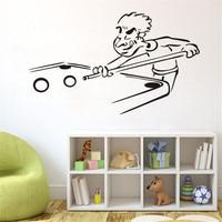 Funny Billiard Cut Sports Snooker Cartoon Wall Stickers For Children Art Vinyl Stickers Home Decoration Living