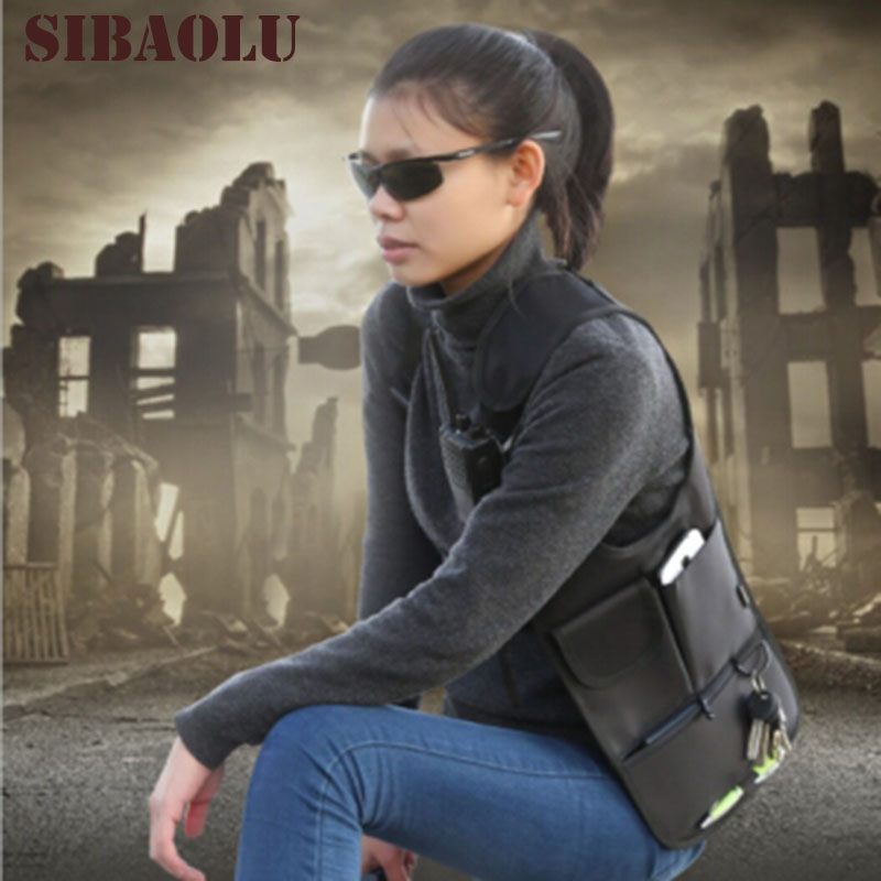 SIBAOLU Anti-Theft Hidden Underarm Shoulder Bag FBI Holster Phone Case Card Bag Wallet Pocket Key Purse Storage Travel Bags
